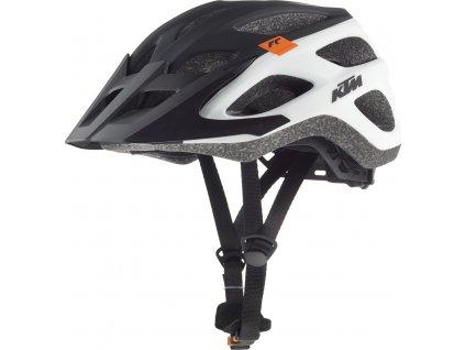 Cyklistická přilba KTM FACTORY CHARACTER black/white matt