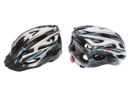 Cyklistická helma R2 COMPACT - černá, modrá, bílá/lesklá