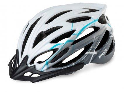 Cyklistická helma R2 ARROW - bílá, šedá, modrá/matná