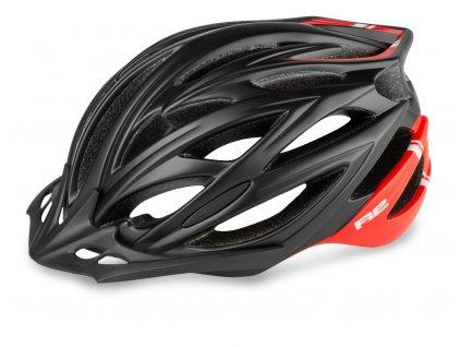 Cyklistická helma R2 ARROW - černá, červená/matná