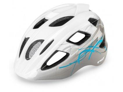 Cyklistická helma R2 BONDY - bílá, šedá, modrá/matná