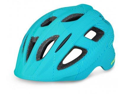 Cyklistická helma R2 BONDY - modrá, neon žlutá/matná