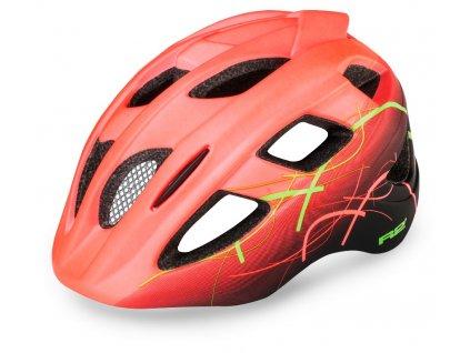 Cyklistická helma R2 BONDY - neon červená, černá, zelená/matná