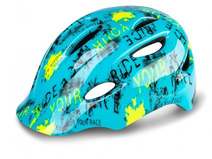 Cyklistická helma R2 DUCKY - modrá, neon žlutá, černá/lesklá
