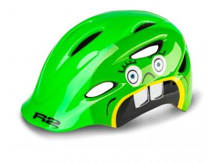 Cyklistická helma R2 DUCKY - zelená/lesklá