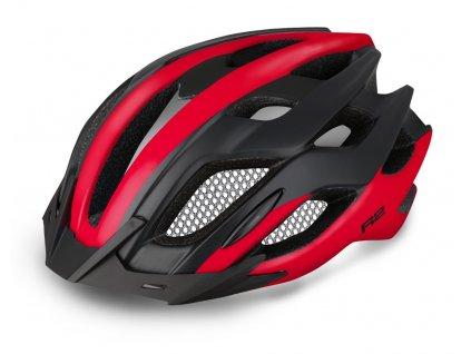 Cyklistická helma R2 TOUR - černá, červená/lesklá