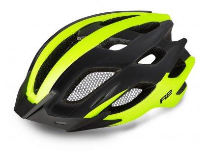 Cyklistická helma R2 TOUR - černá, neon žlutá/matná