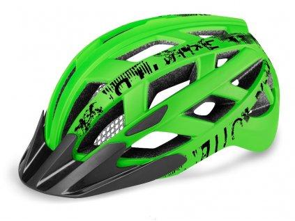Cyklistická helma R2 LUMEN JUNIOR - zelená, černá/matná