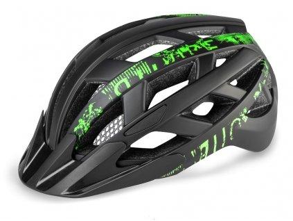 Cyklistická helma R2 LUMEN - černá, zelená/matná