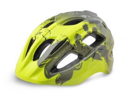 Cyklistická helma R2 BONDY - šedá, neon žlutá/matná