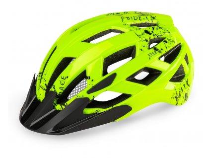 Cyklistická helma R2 LUMEN JUNIOR - neon žlutá, černá/matná