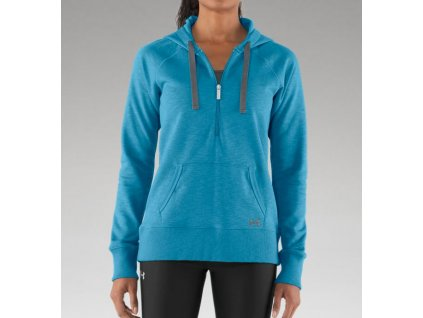 Mikina UNDER ARMOUR HOODY CHARGED W aqua blue