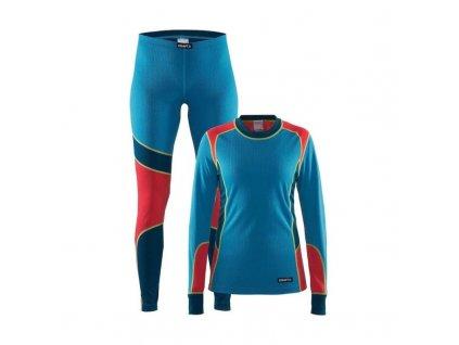 Prádlo funkční SET CRAFT BASELAYE - Tyrkys/blue/red