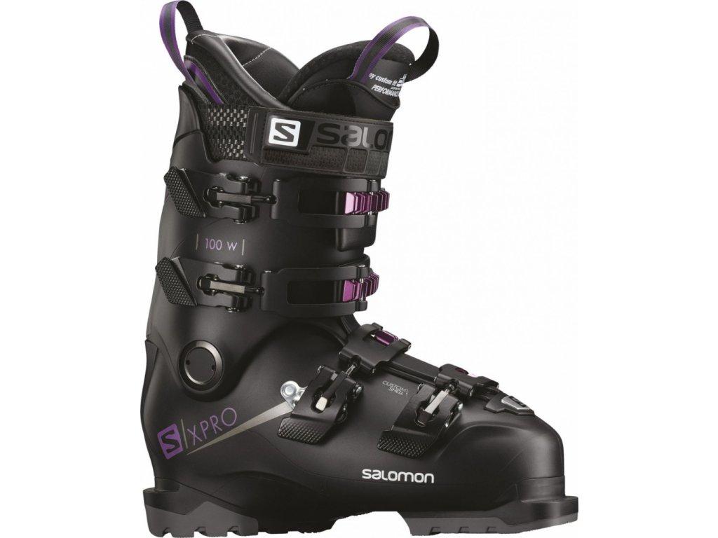 Salomon X PRO 100 W BLACK/PURPLE 18/19