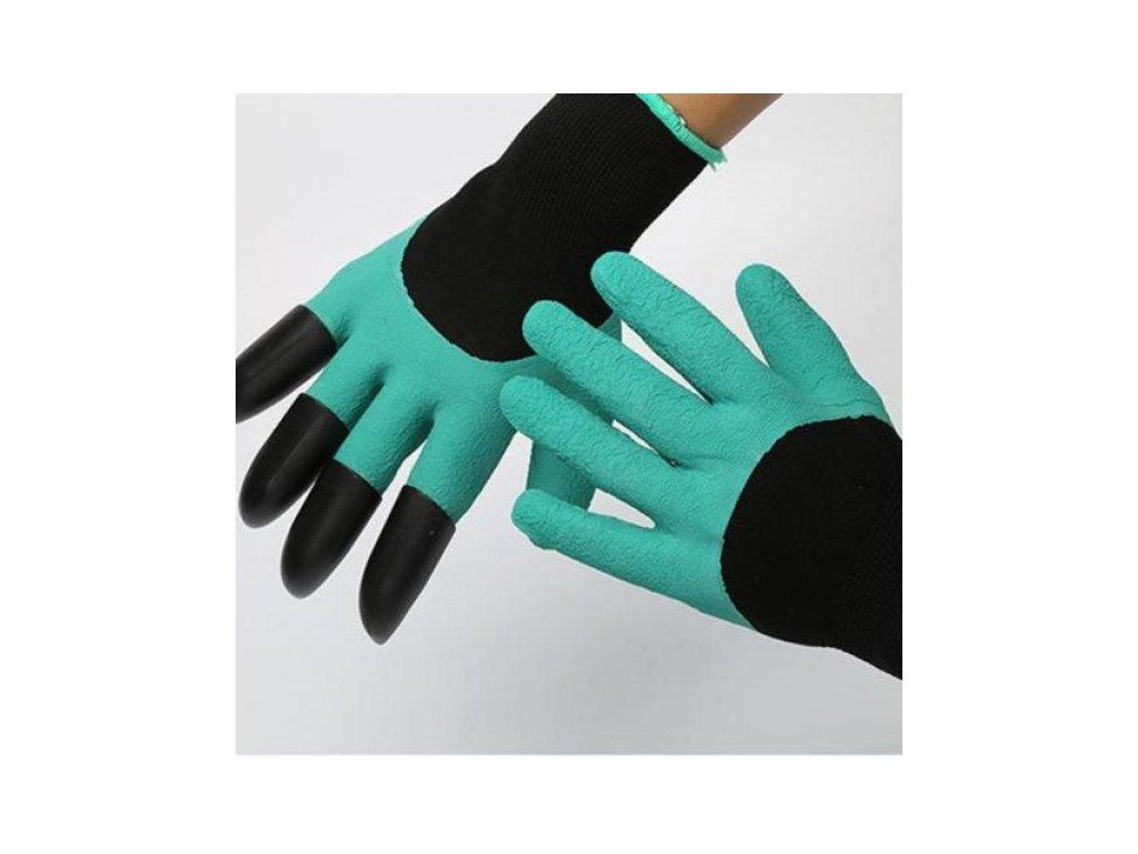 Zahradní rukavice s plastovými drápy, DZ894