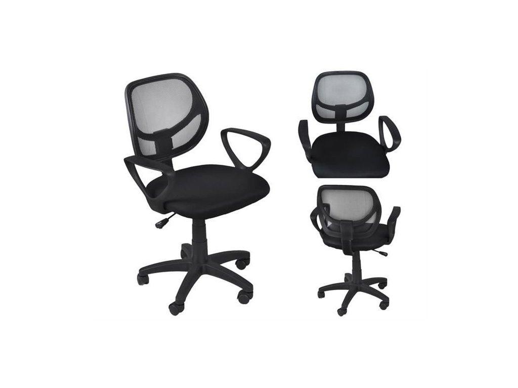 pol pl Fotel biurowy wentylowany czarny 11703 2