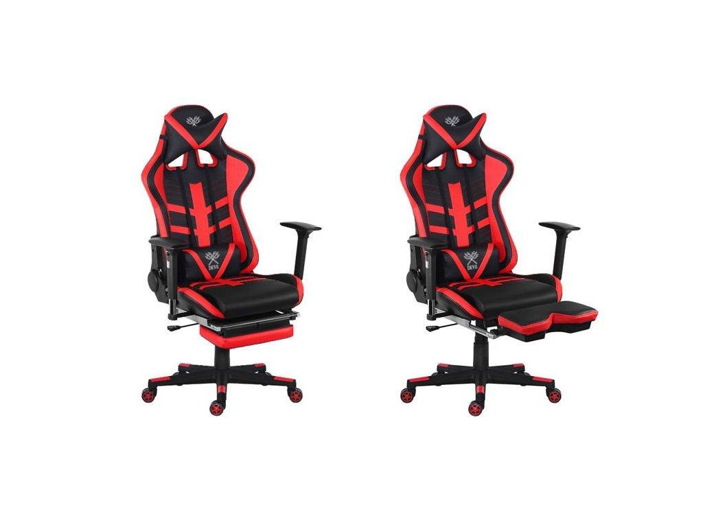 pol pl Fotel biurowy gaminowy czerwono czarny P8590 13680 4