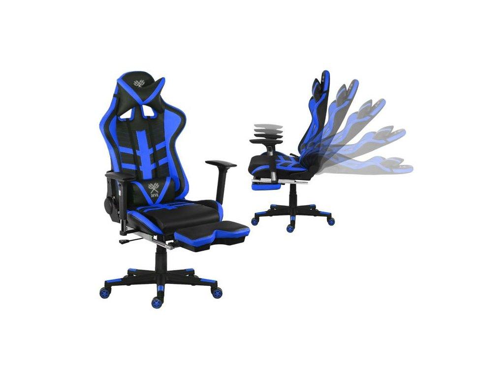 pol pl Fotel biurowy gamingowy niebiesko czarny P8588 13682 2