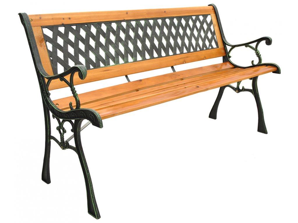 Zahradní lavice, dřevěná, 3390
