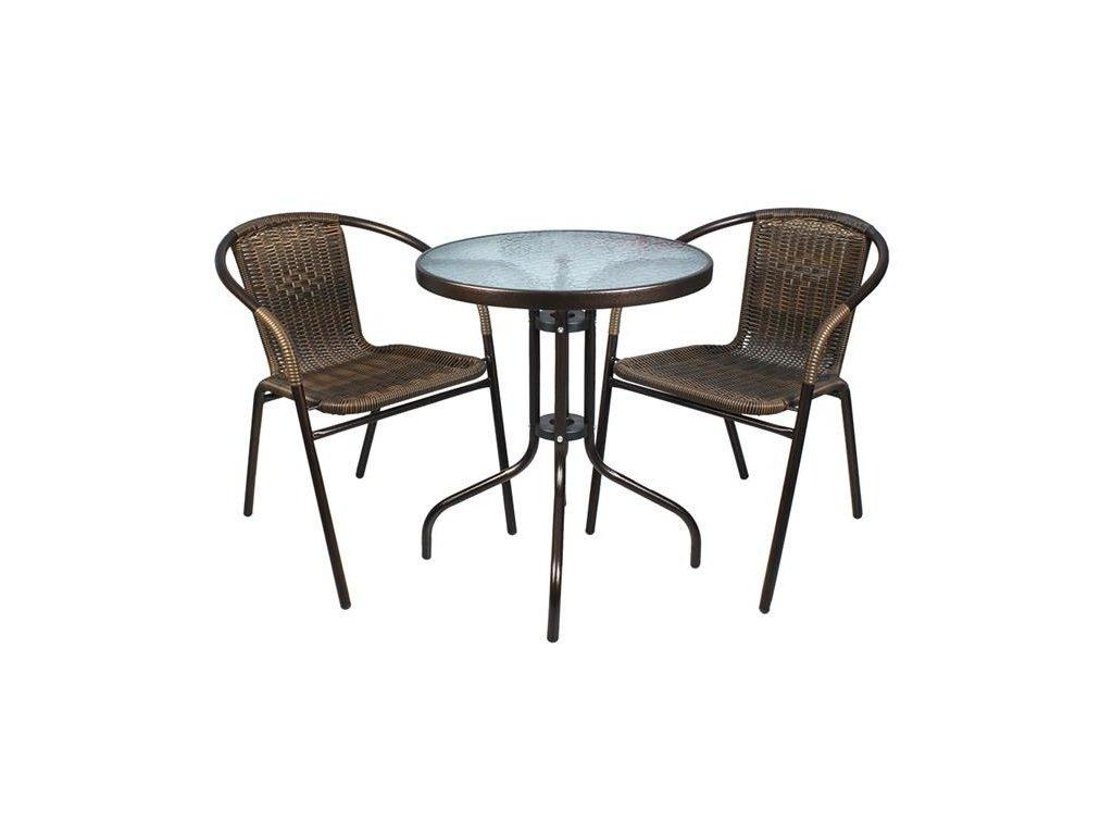 pol pl Zestaw mebli balkonowych braz stol 2 krzesla 12664 13