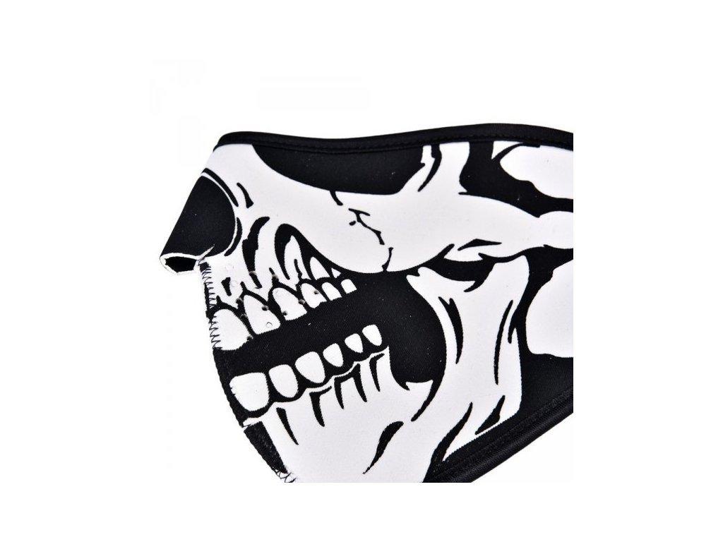 Neoprenová maska - lebka