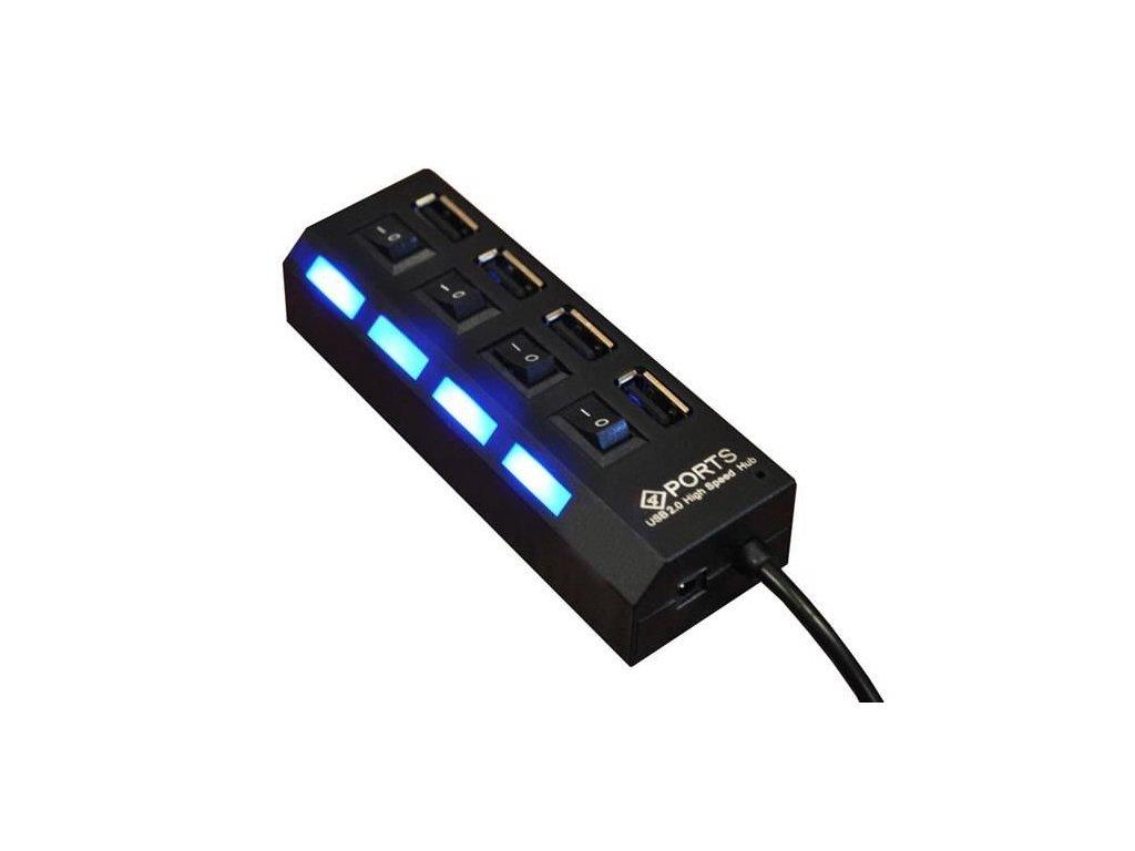 Hub USB 4 porty USB 2.0, černý, 2529