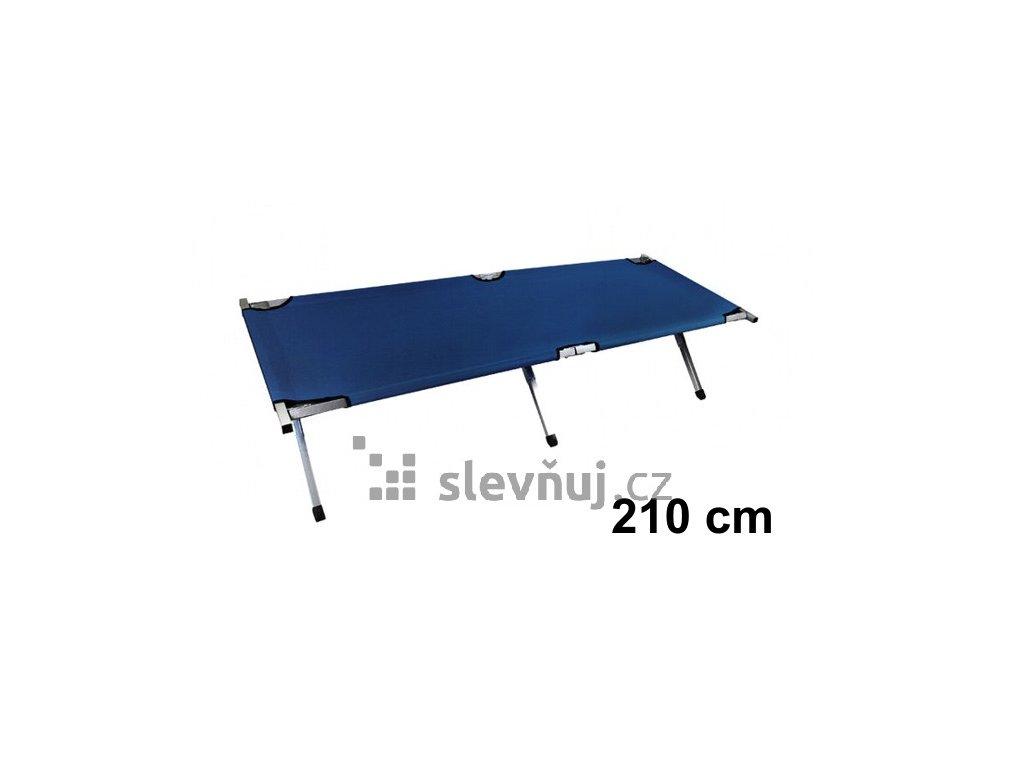 Skládací polní lehátko 210 cm, modré, 5380
