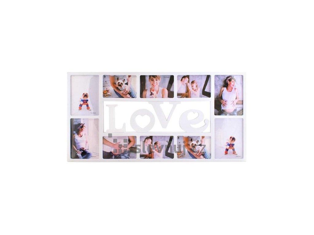 ISO, 5592 Fotorám na 10 fotek LOVE, 72x36x2cm