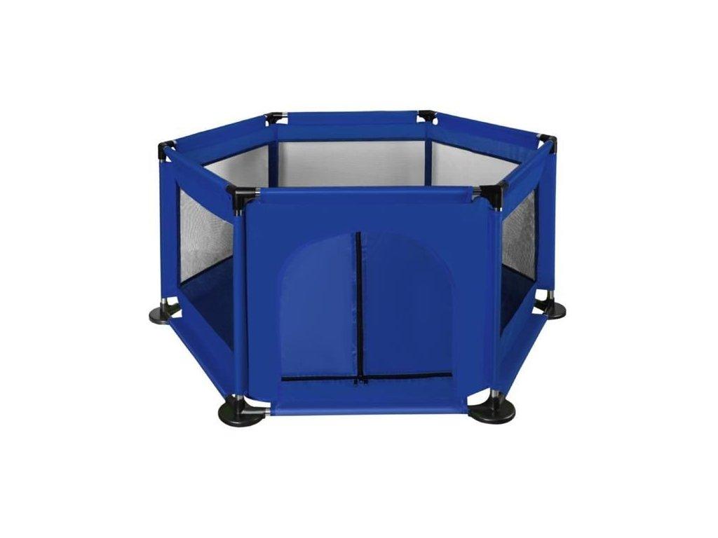 Textilní ohrádka pro děti 115 x 65 cm, tmavě modrá, 8495