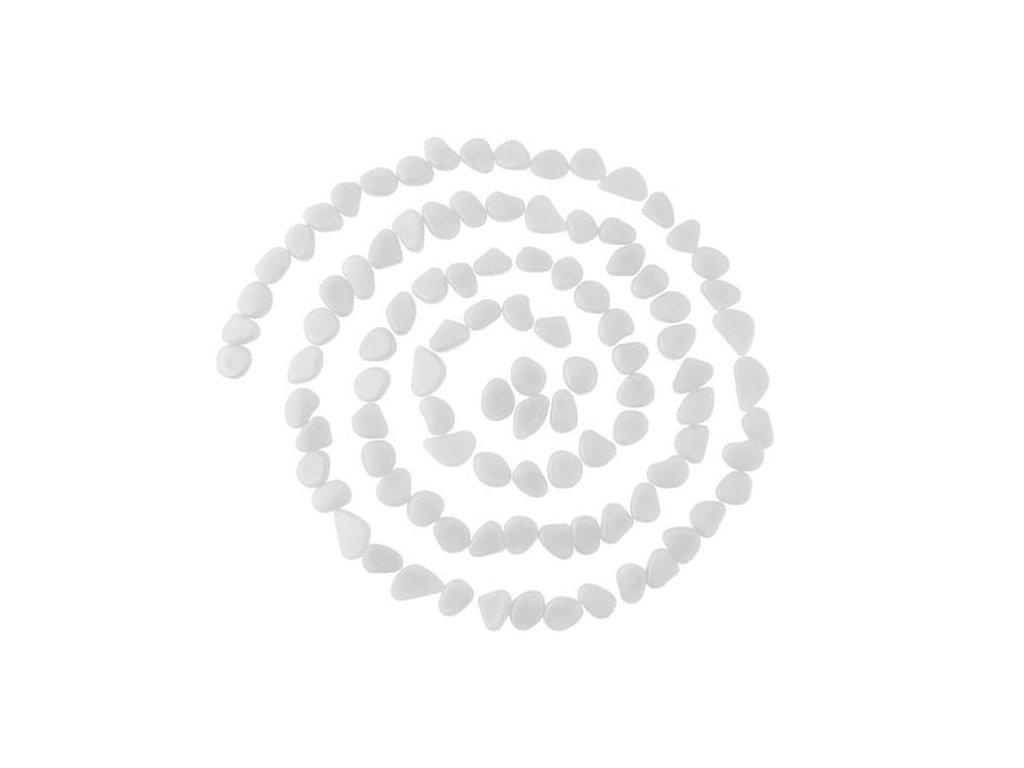 Svítící dekorativní kameny 100 ks - bílé, 8767