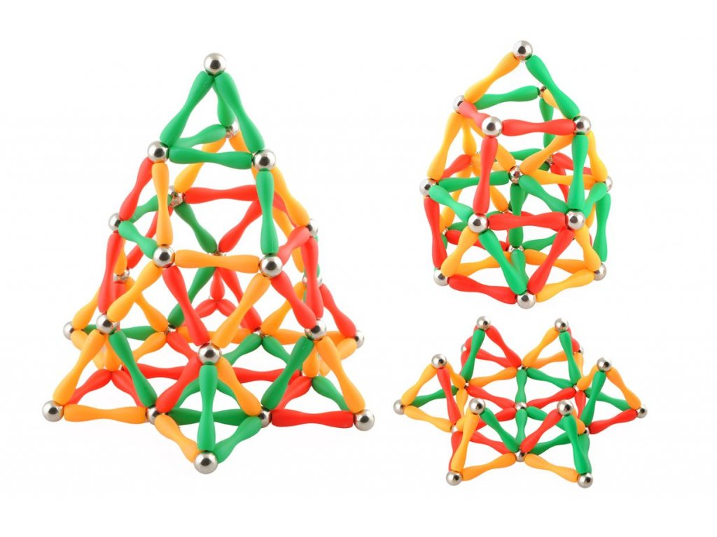 Magnetická stavebnice 130 dílků 3D, 4482