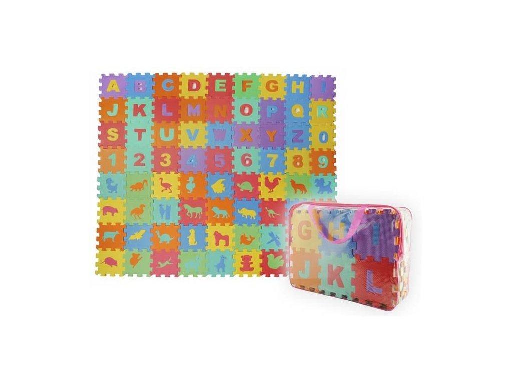 EVA Pěnové puzzle 16 x 16 cm - 72 ks, 4495