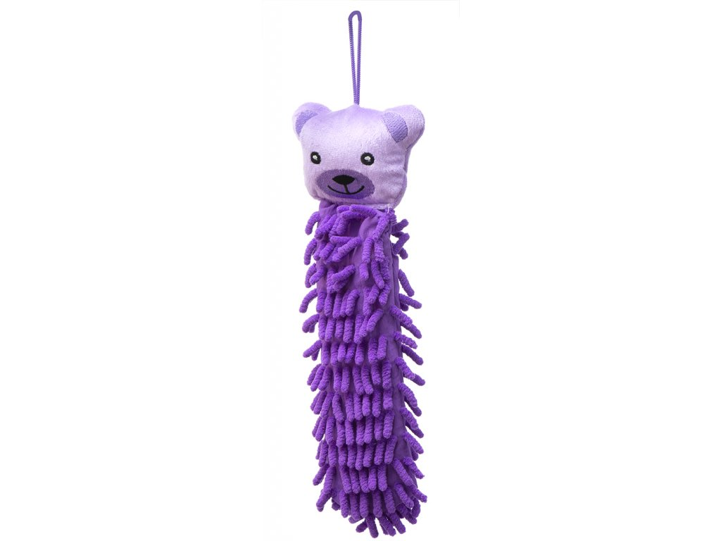 Dětský ručník medvěd fialová KX8576_6