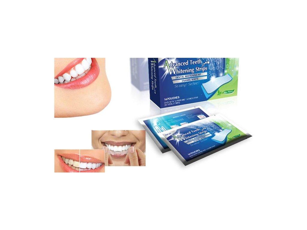 Revoluční bělící pásky na zuby Advanced - 14 denní kůra za nejlepší cenu.