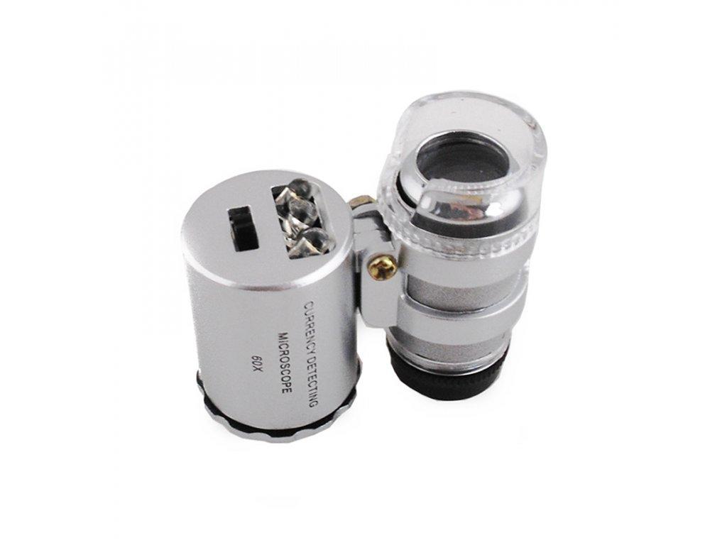 Kapesní mikroskop, lupa 60x