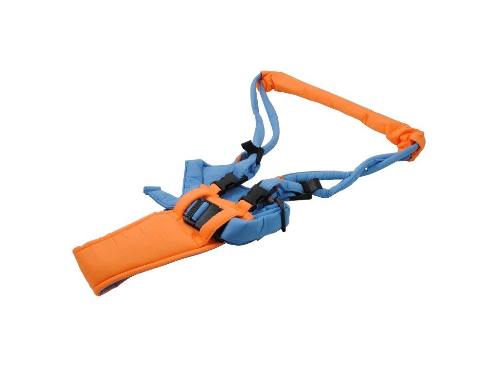 Chodící popruhy - kšíry, oranžovo/modrá