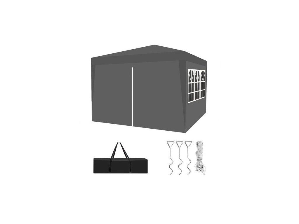 pol pl Pawilon ogrodowy skladany 3x3 szary P12907 15155 12