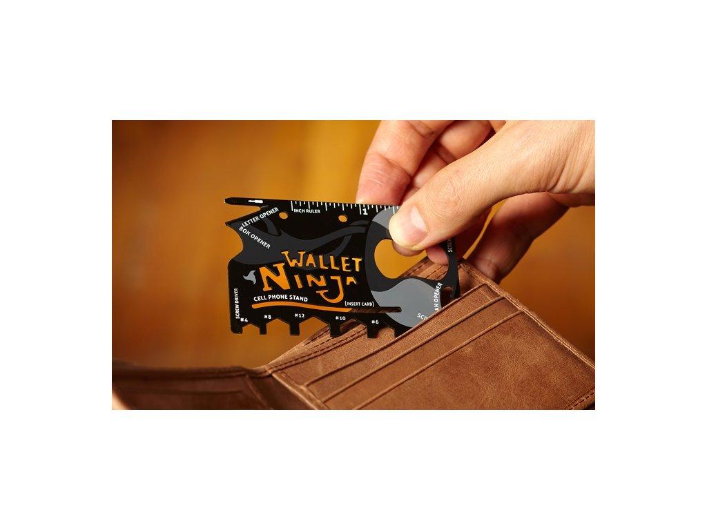 Ocelová multifunkční karta nářadí 18v1