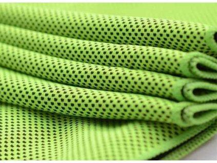 Chladící ručník - Stačí namočit, vyždímat a napnout - zelená