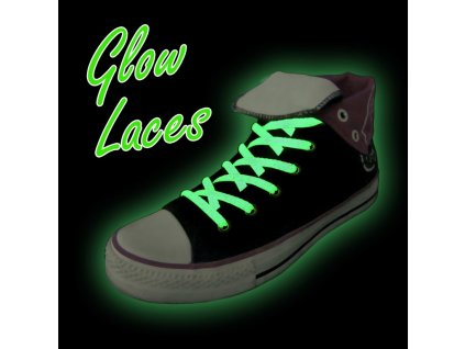 Svítící tkaničky do bot, zelená