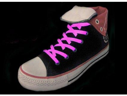Svítící tkaničky do bot, růžová
