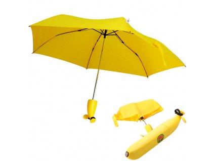 Deštník ve tvaru banánu,  zelený