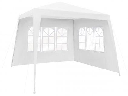 Zahradní párty stan 3 x 3 m + 2 boční stěny, bílý, 1651