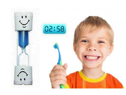 0012815 presypaci hodiny na cisteni zubu modre
