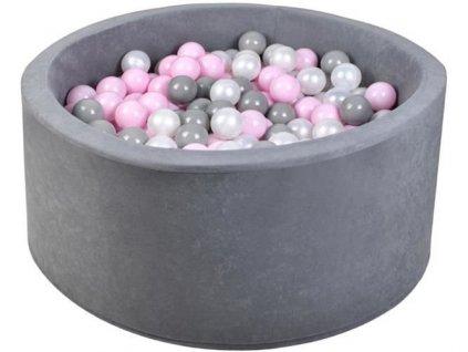 pol pl Basen suchy szary 200 szt pilek rozowe 13310 1
