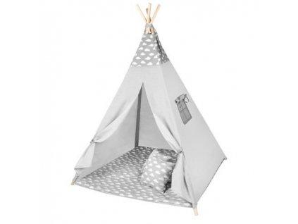 pol pl Namiot dla dzieci Tipi szary chmurki 13555 2
