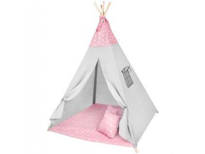 pol pl Namiot dla dzieci Tipi rozowy gwiazdki 13558 1