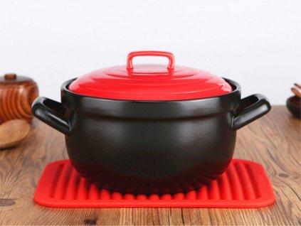 Kuchyňská silikonová podložka - červená F216