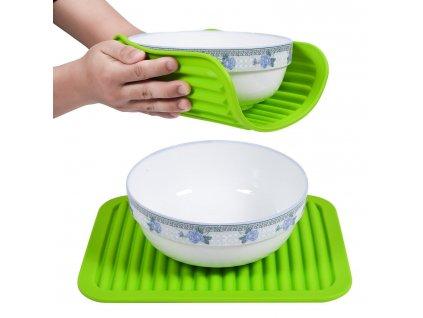 Kuchyňská silikonová podložka - zelená F218