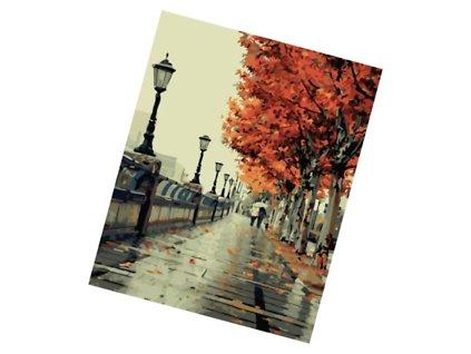 Malování podle čísel - podzimní procházka V101